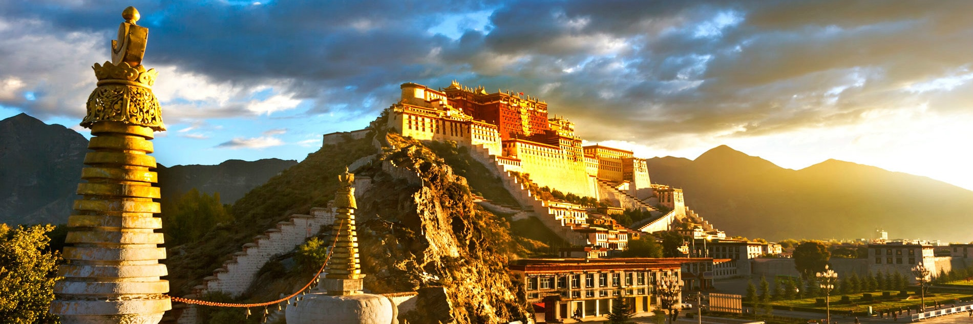 Roof of the world Tibet travel